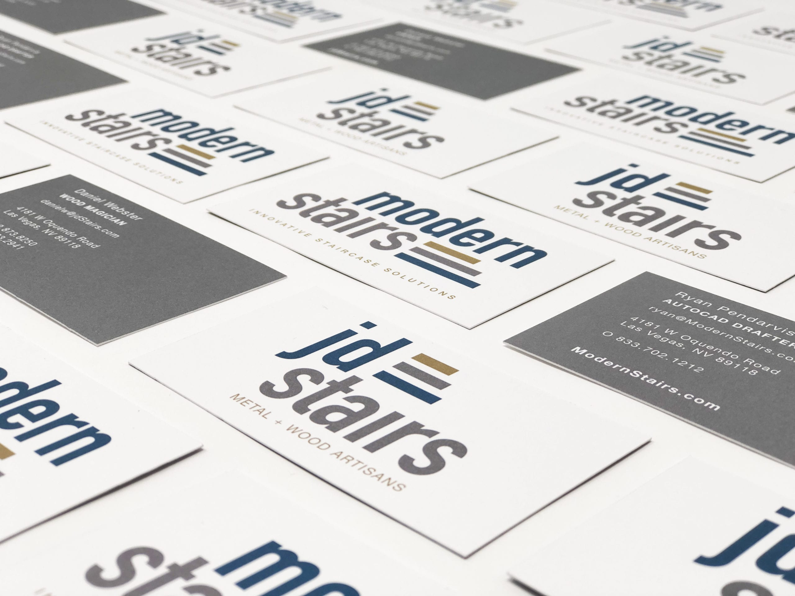 JD Stairs business cards