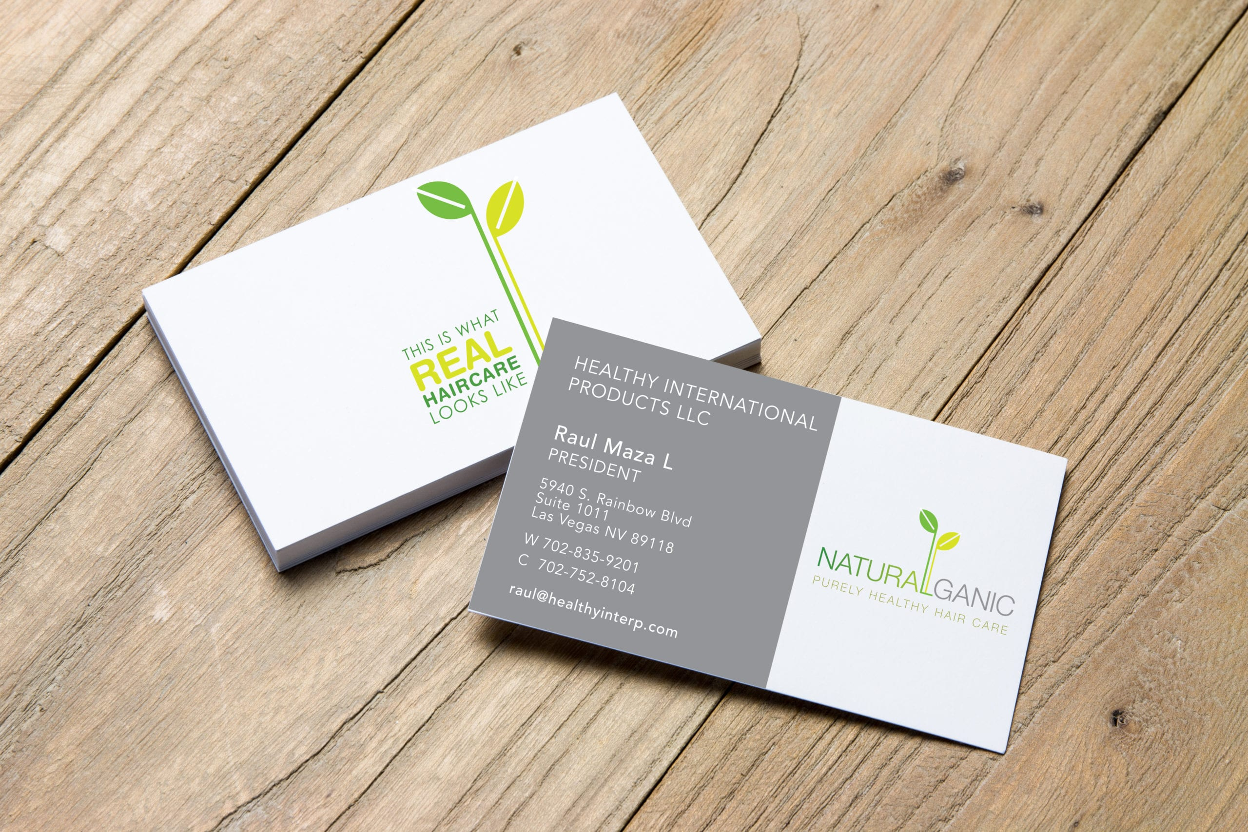 Naturalganics business cards