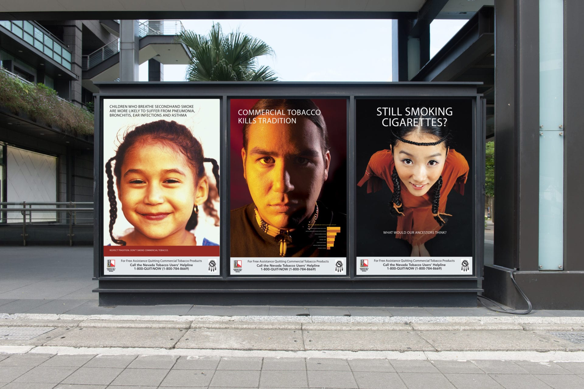 Three posters for the Nevada Tobacco Prevention Coalition ad campaign