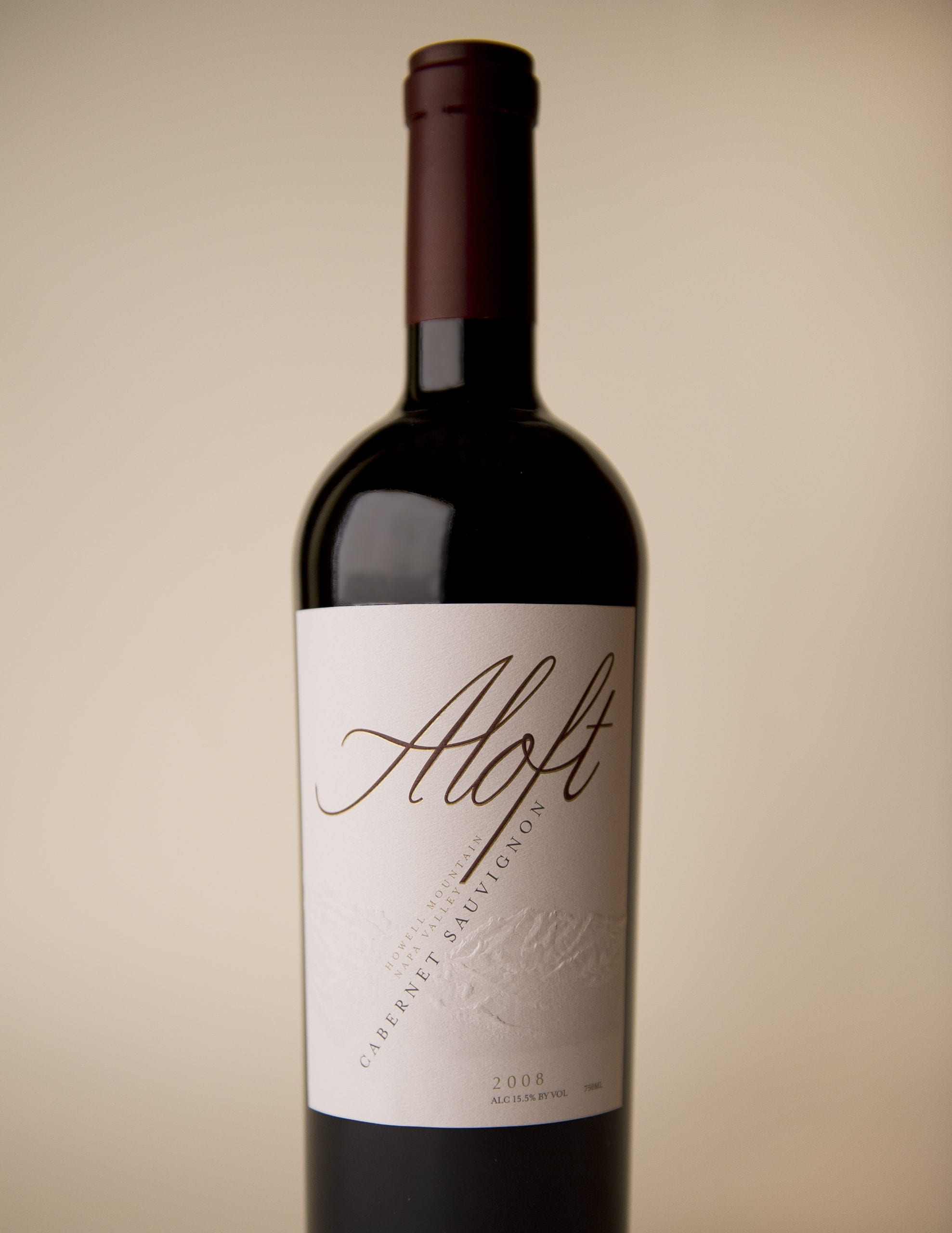 The front of a bottle of Aloft Wine, Marc Mondavi and Family, label and brand designed by Canyon Creative