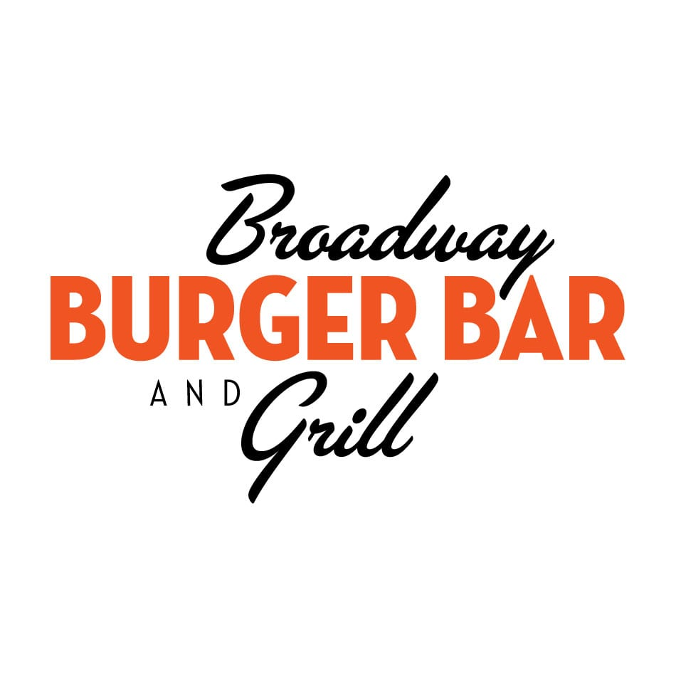 Broadway Burger Bar and Grill logo designed by Canyon Creative