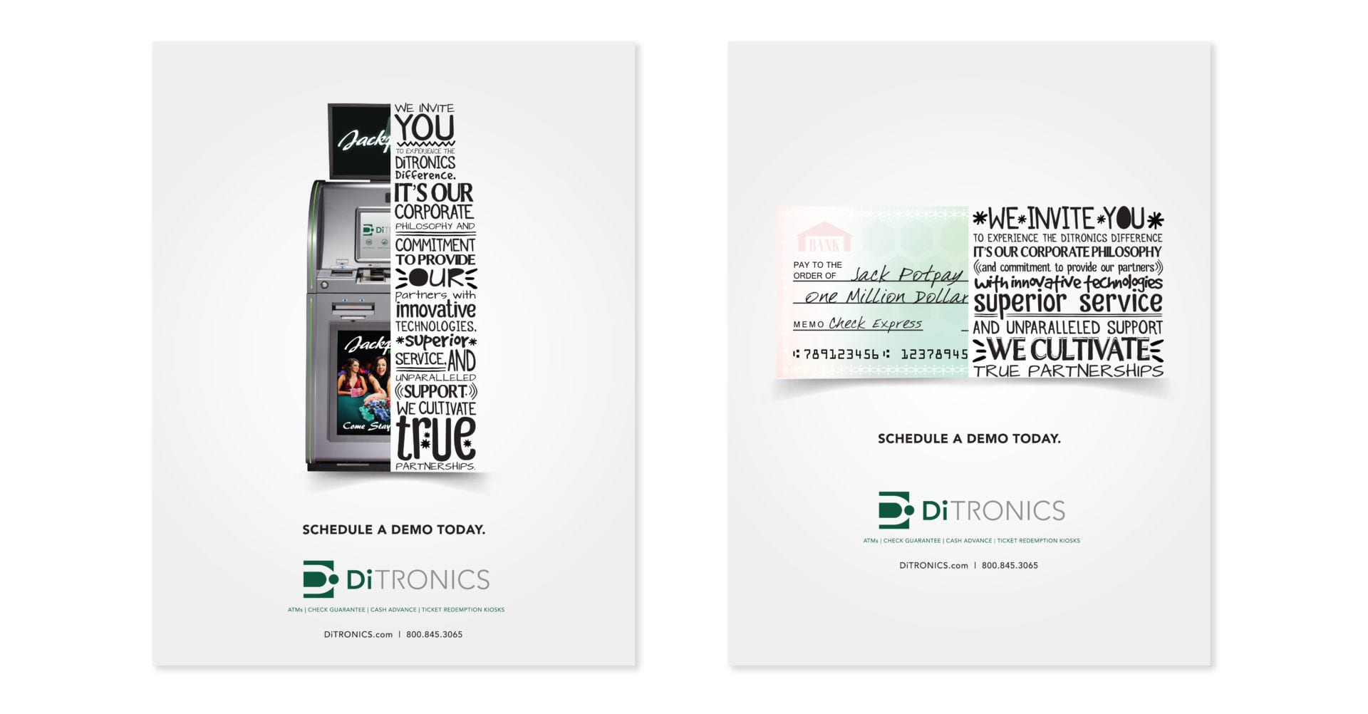 2 additional pages of the DiTronic Print Ad campaign