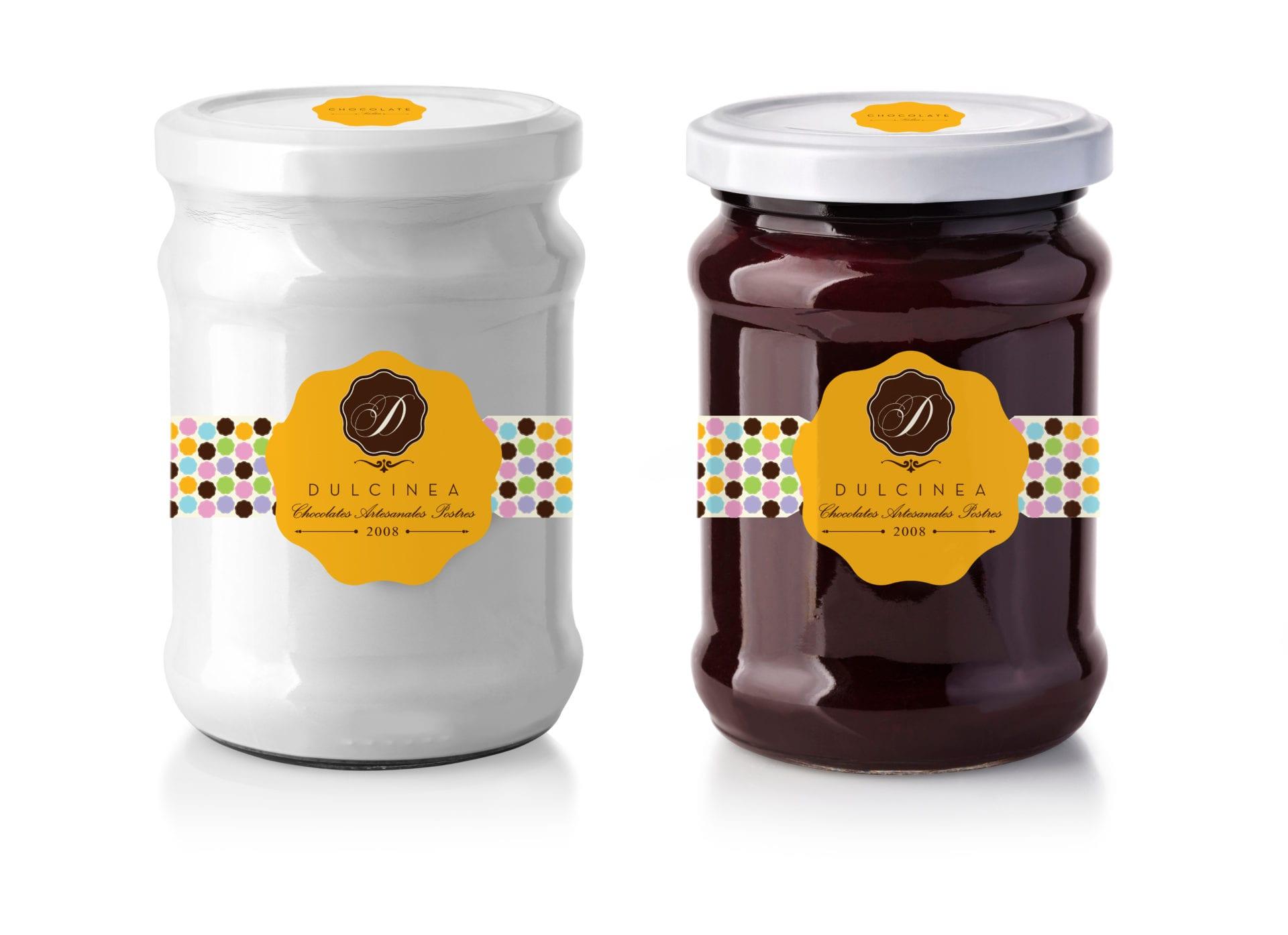 Jars of Dulcinea chocolate