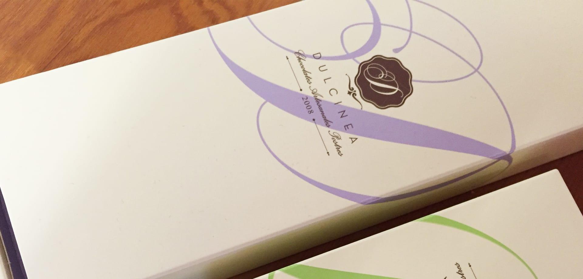 Dulcinea chocolate packaging