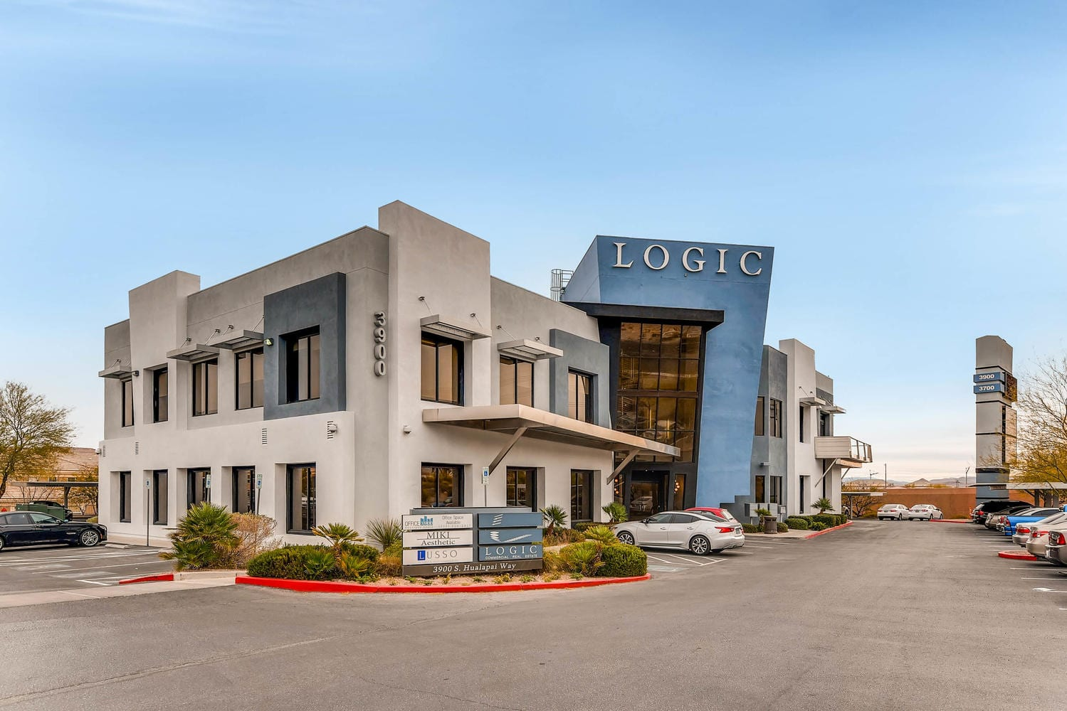 Front entrance of the LOGIC Commercial Real Estate building