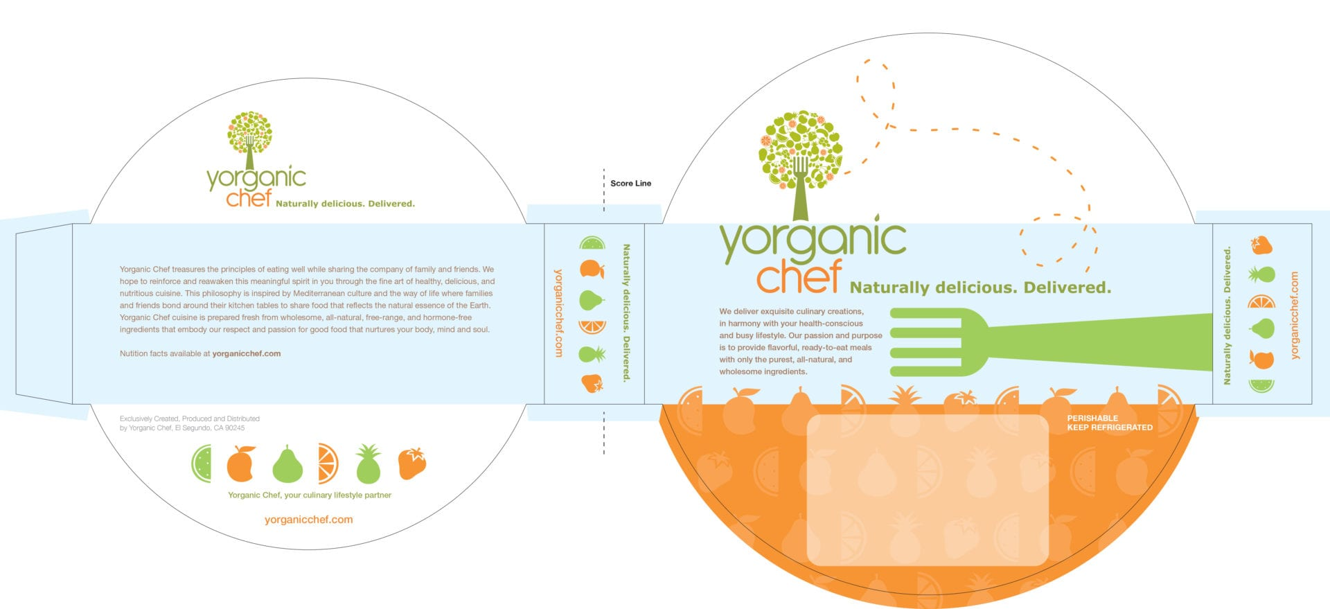 The layout design of the Yorganic Chef bowl cover