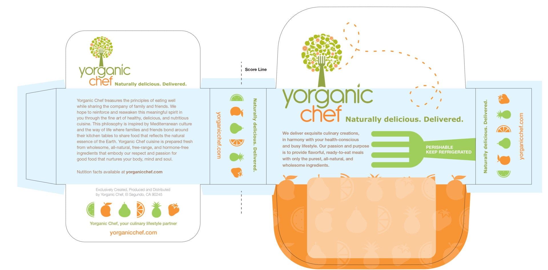 Another design layout of a Yorganic Chef salad box cover