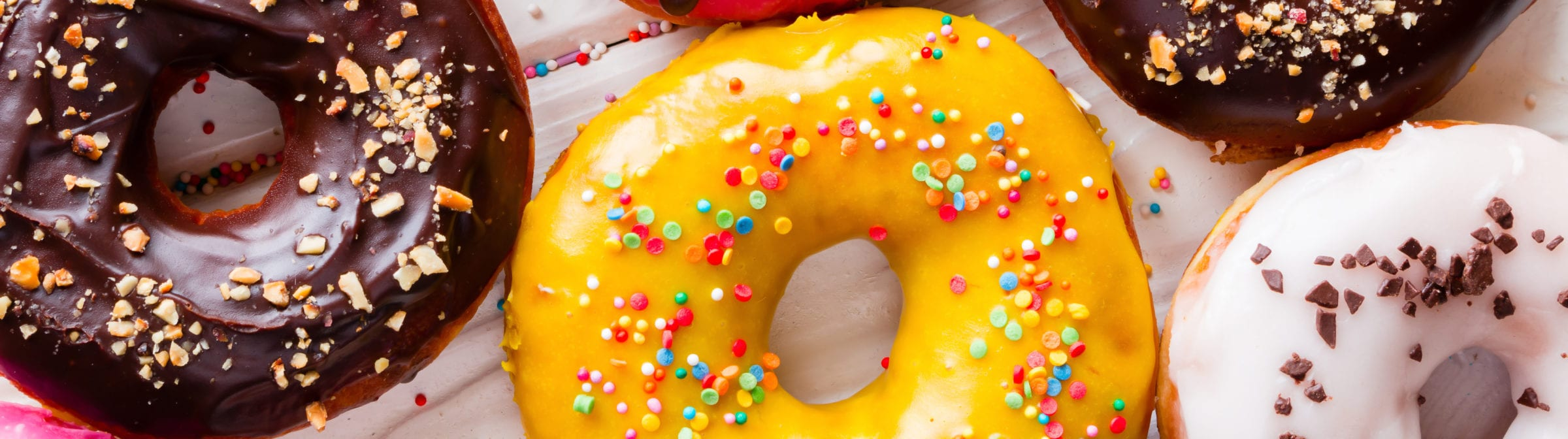 A colorful assortment of donuts