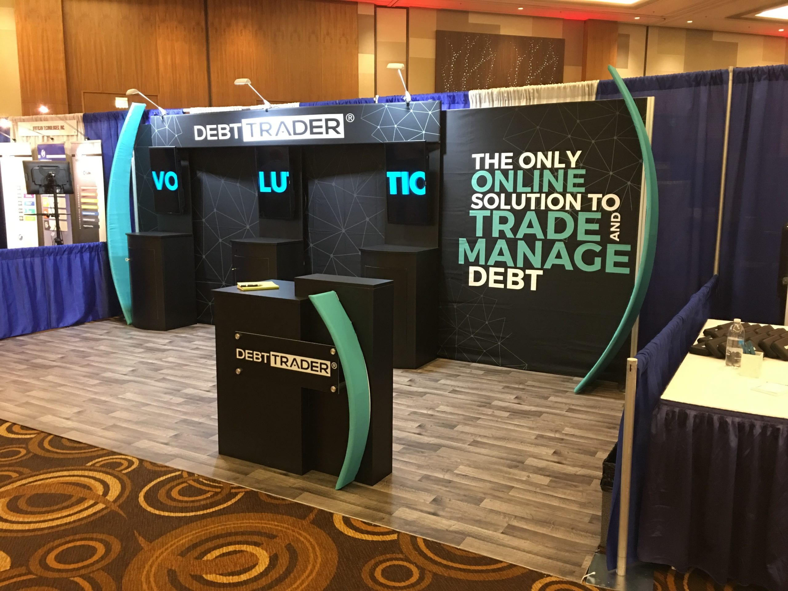 The DebtTrader tradeshow booth