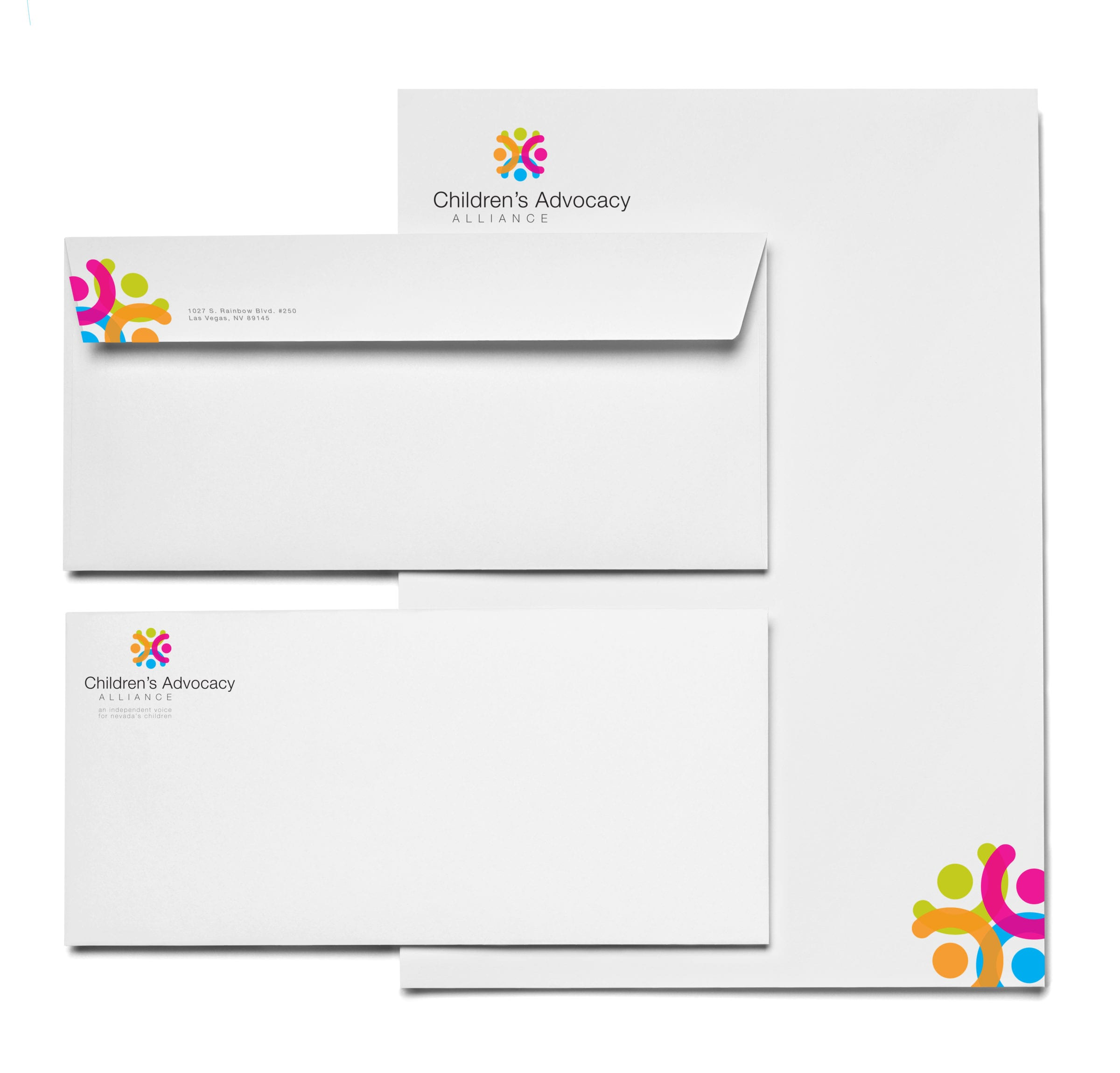 Children's Advocacy Alliance branded stationary