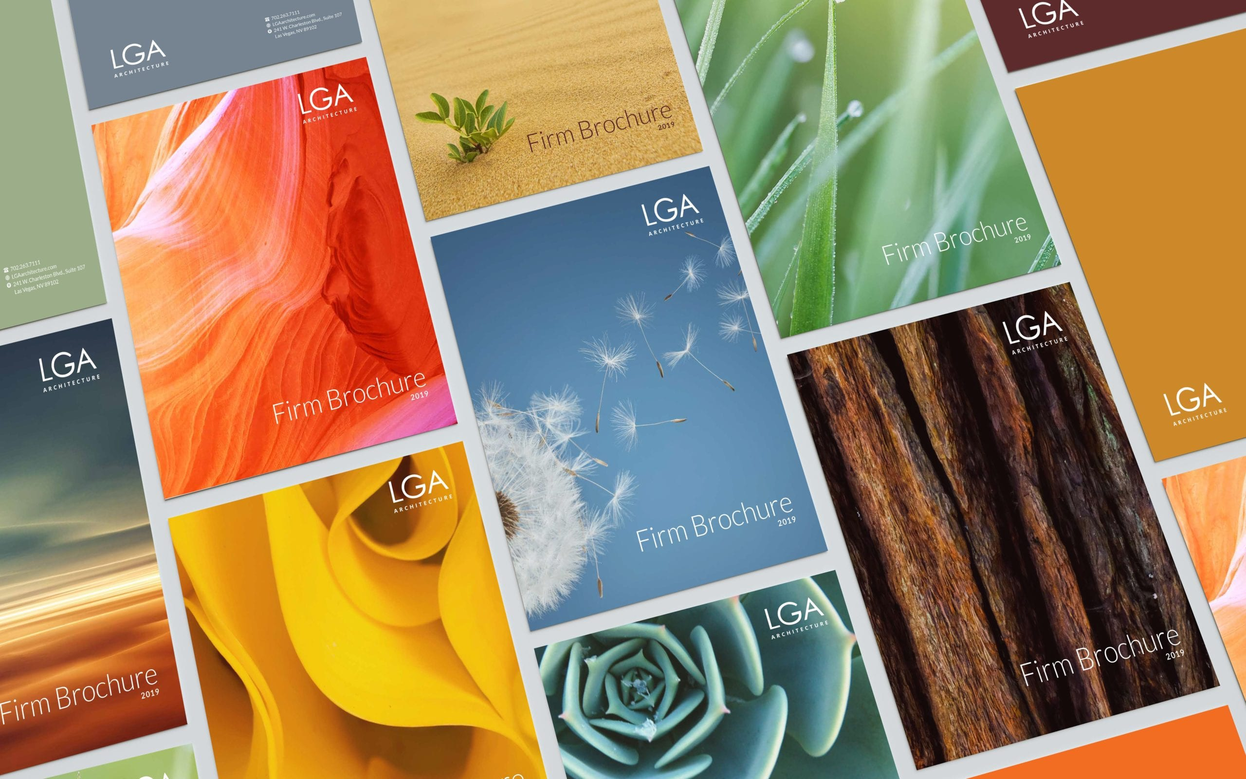 A wallpaper of the LGA Architecture brochure designed by Canyon Creative