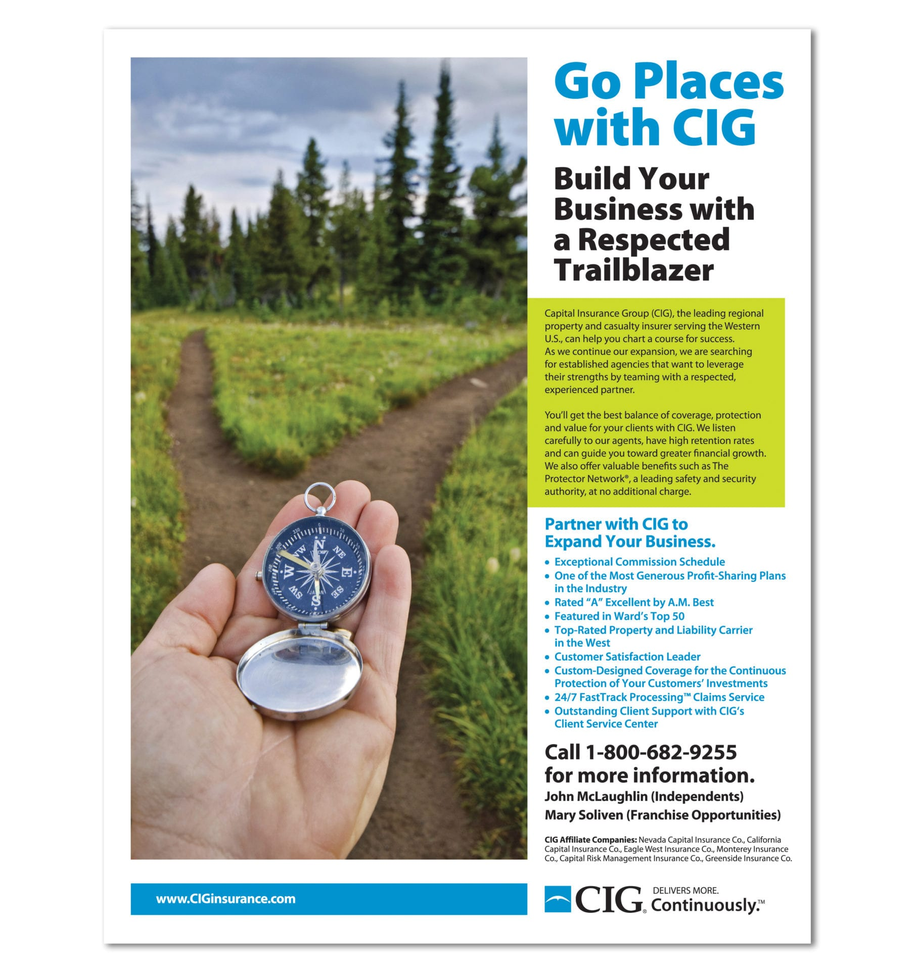 CIG Insurance magazine ad