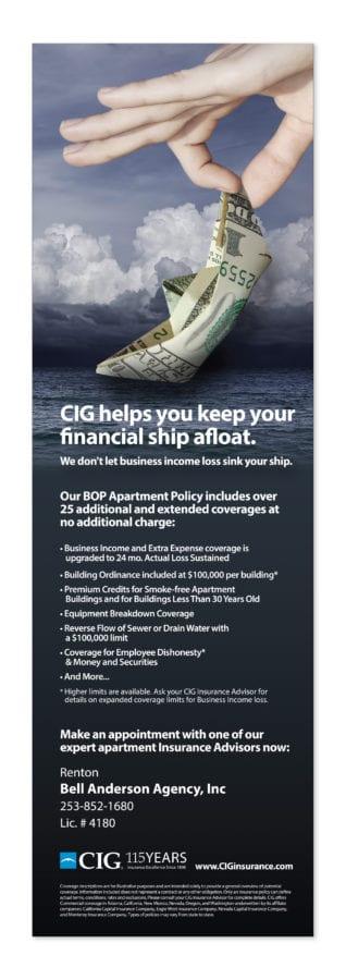 CIG Insurance magazine ad, sidebar