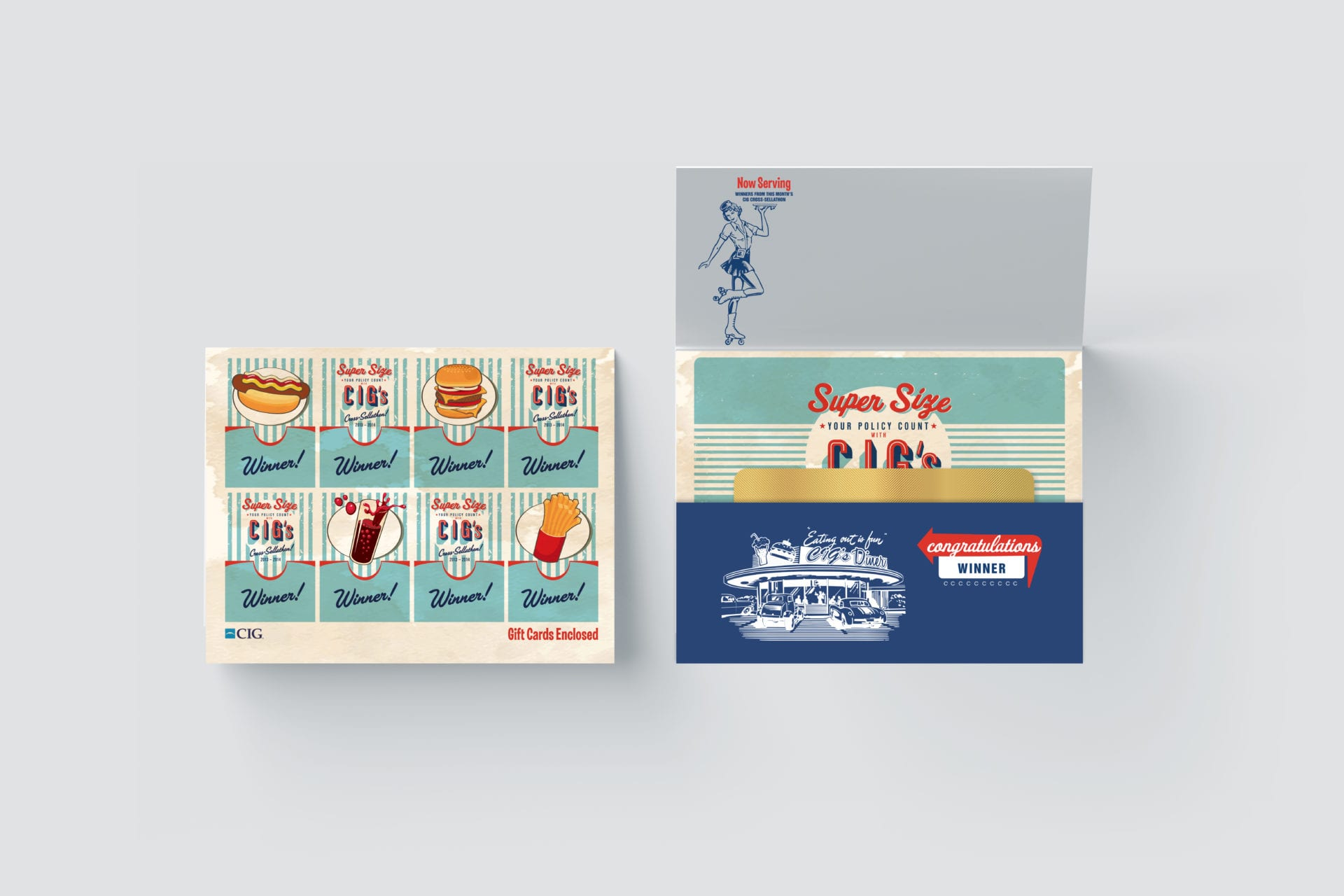 Vintage restaurant graphics