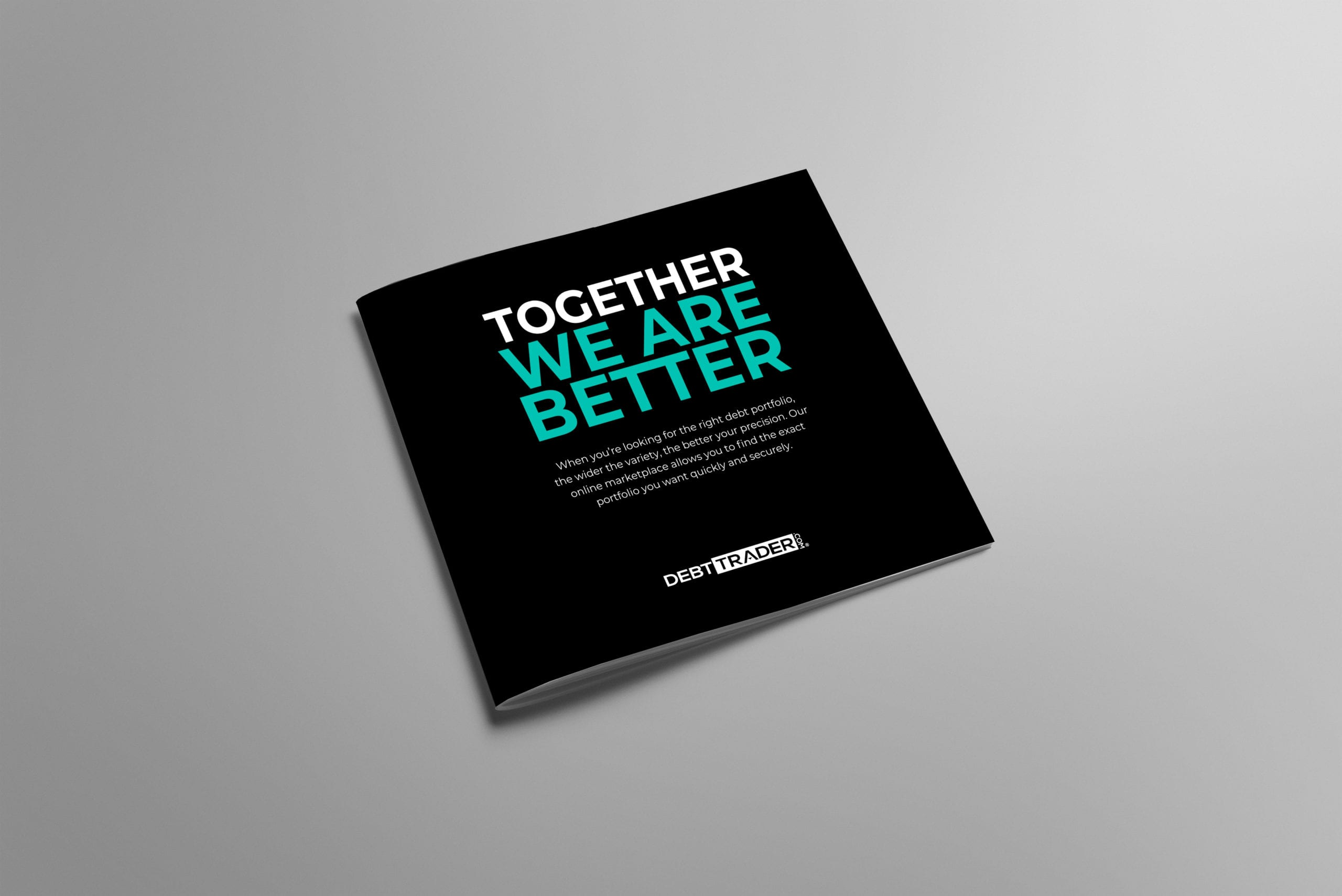 An alternative brochure in black