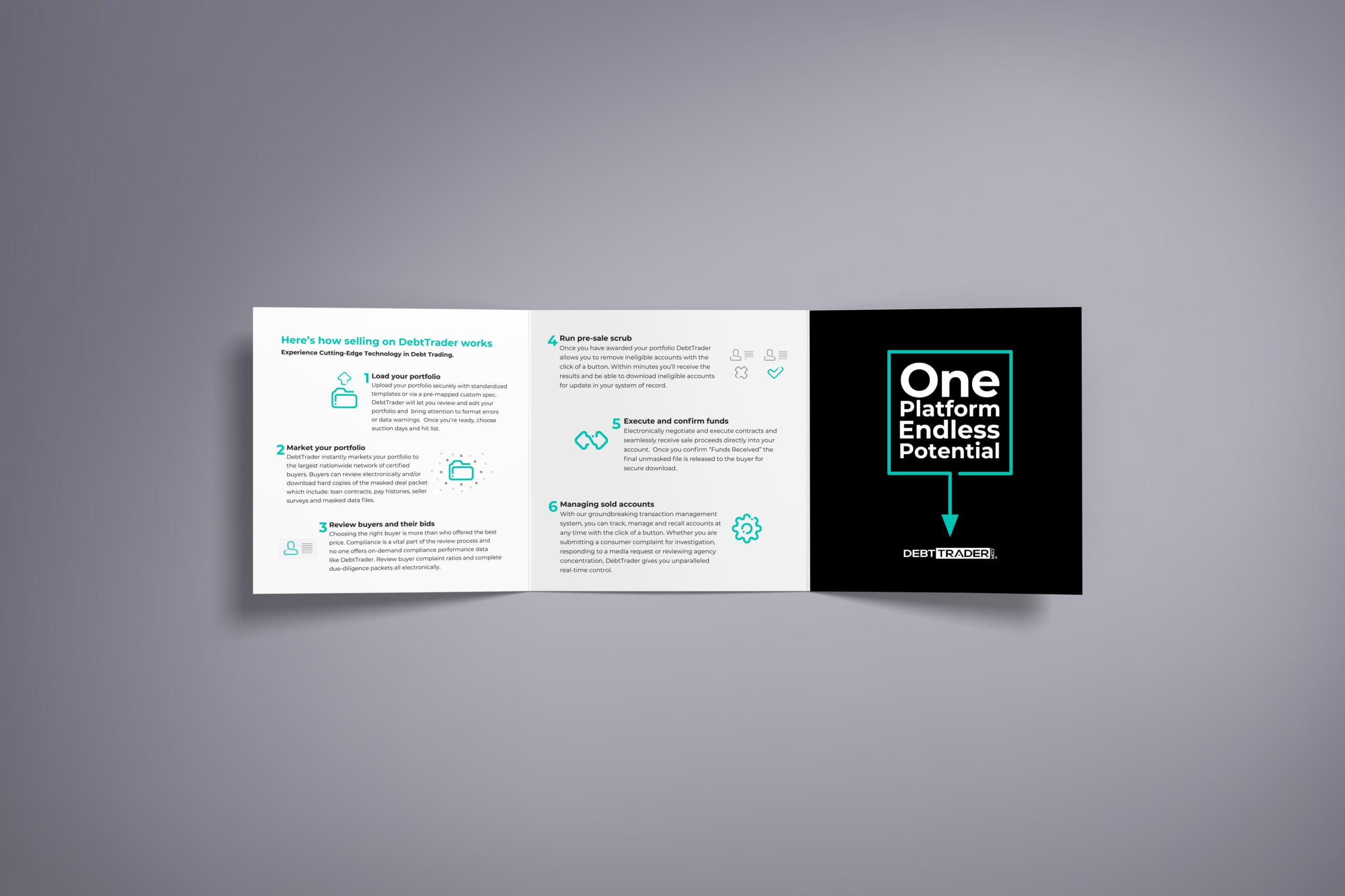 An alternative brochure opened