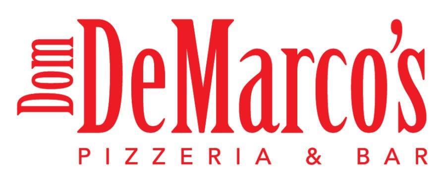 Dom Demarco's Pizzeria & Bar logo designed by Canyon Creative