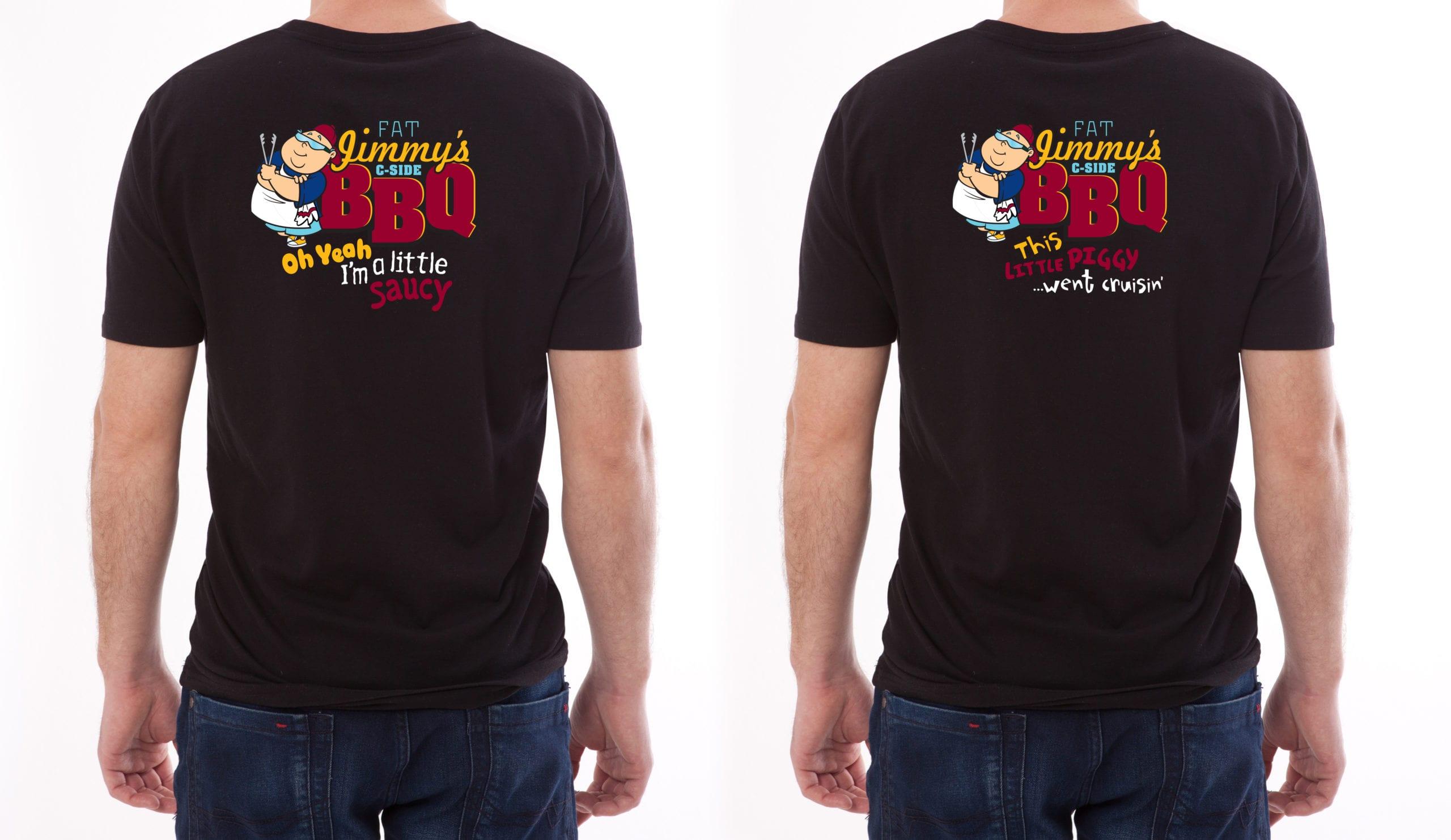 Fat Jimmy's C-Side BBQ t-shirts