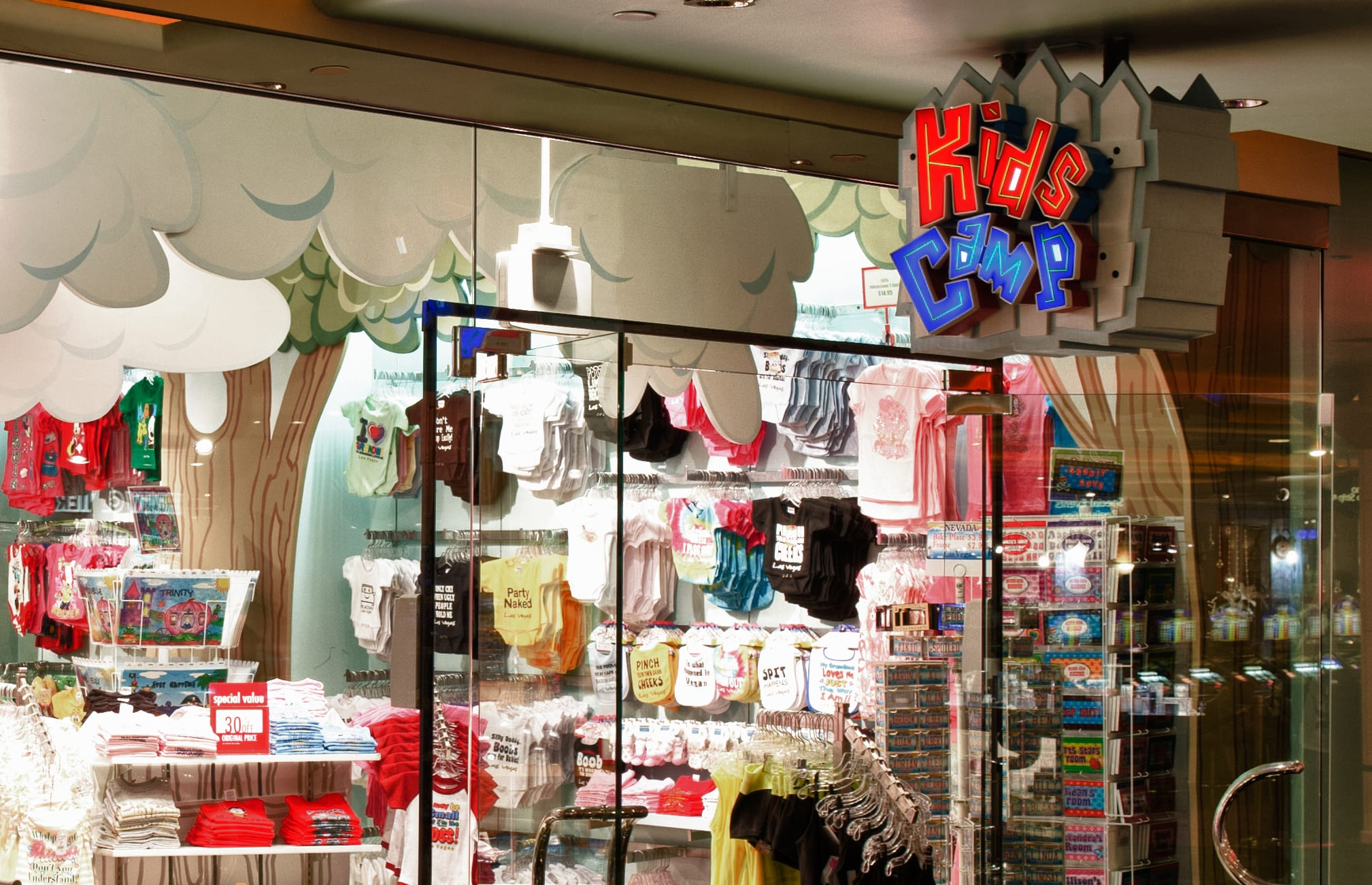The interior of the Marshall Retail Group Kids Camp store