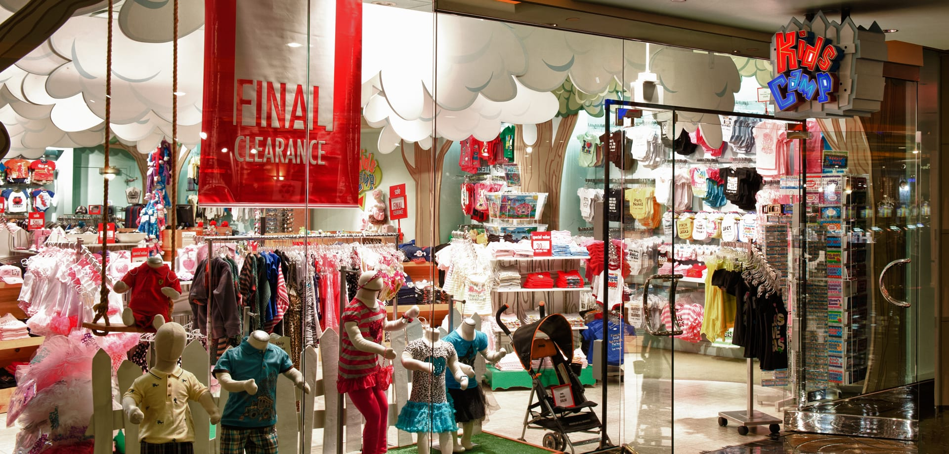 A view of the the Marshall Retail Group Kids Camp store