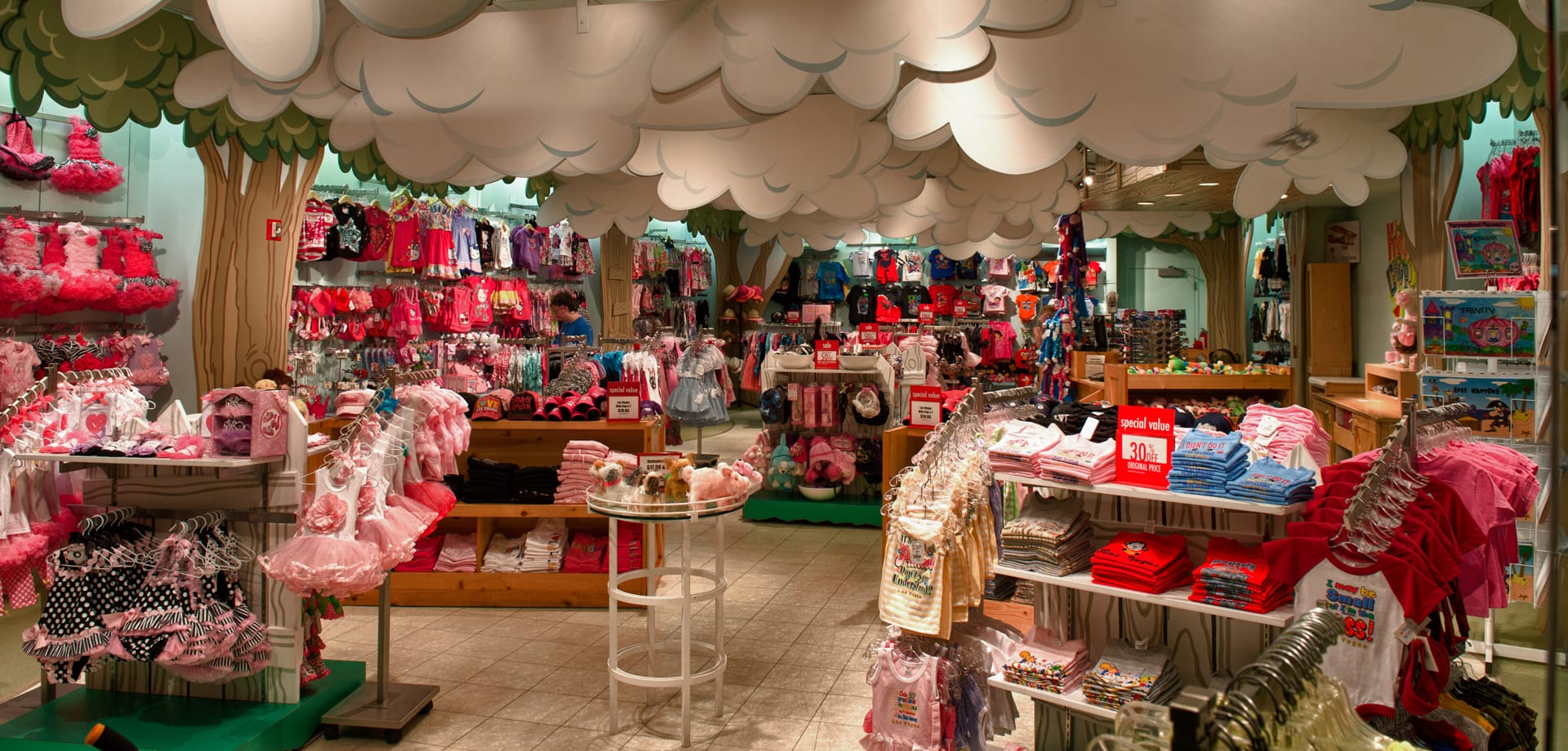 The interior of the Kids Camp store