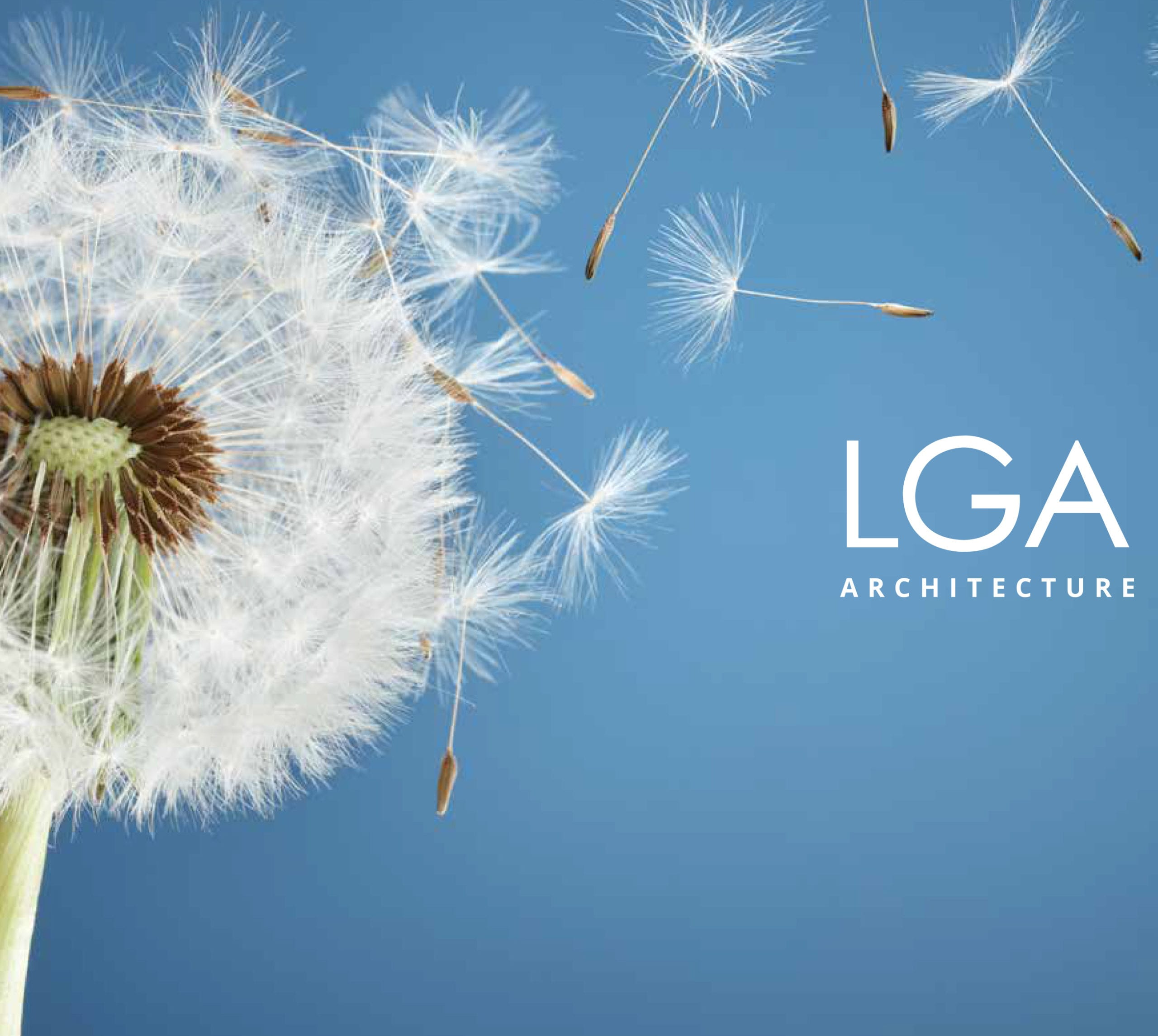 LGA Architecture brochure, designed by Canyon Creative