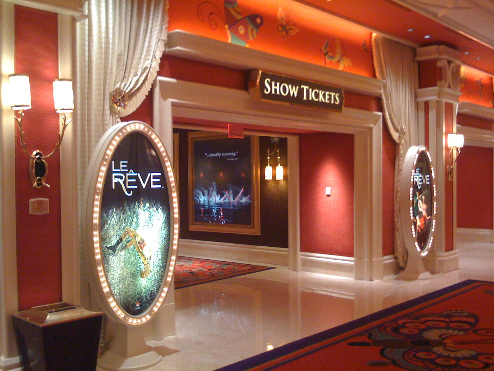 Billboards for Le Reve at the Wynn Las Vegas