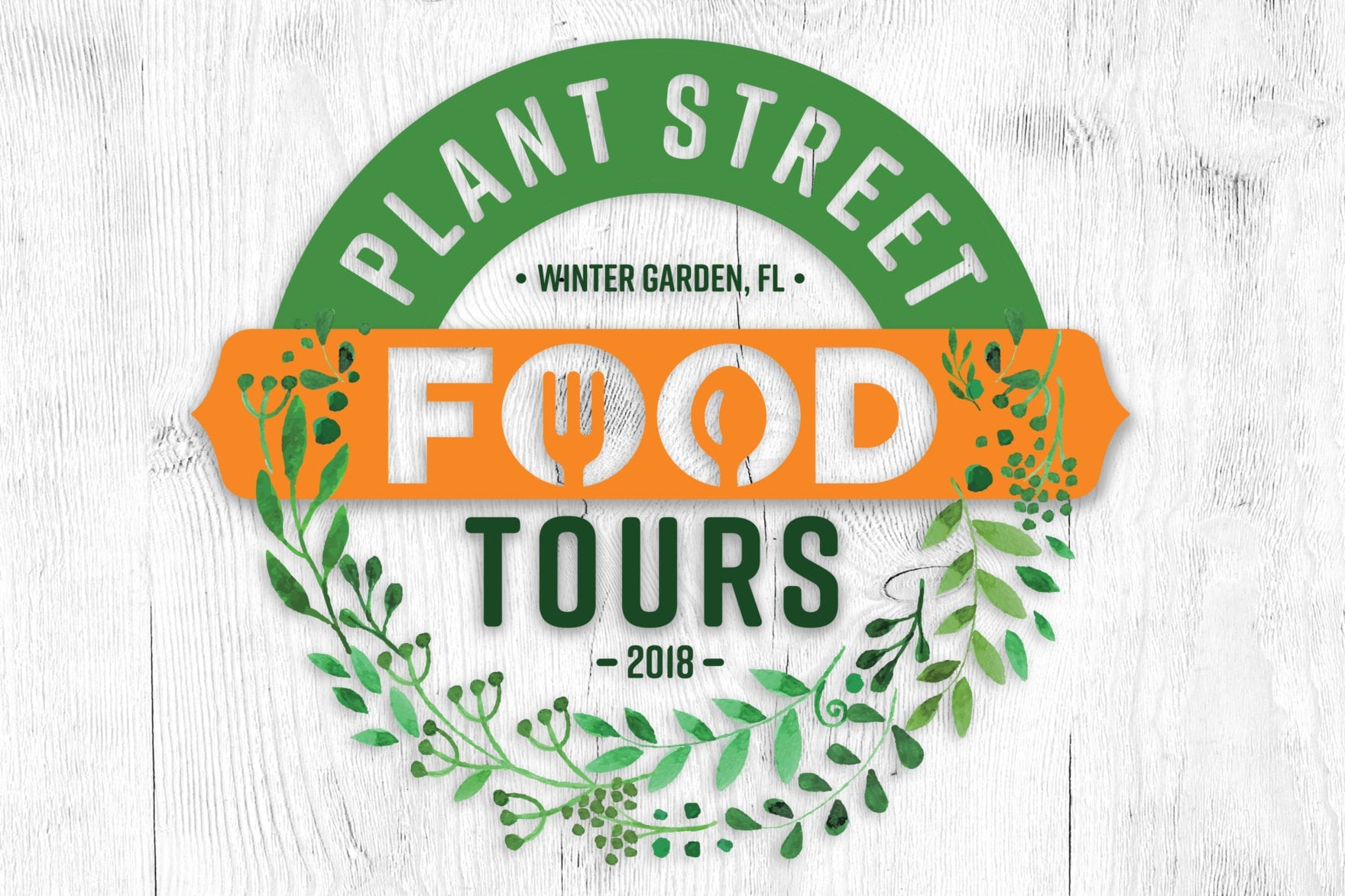 Plant Street Food Tours logo, designed by Canyon Creative