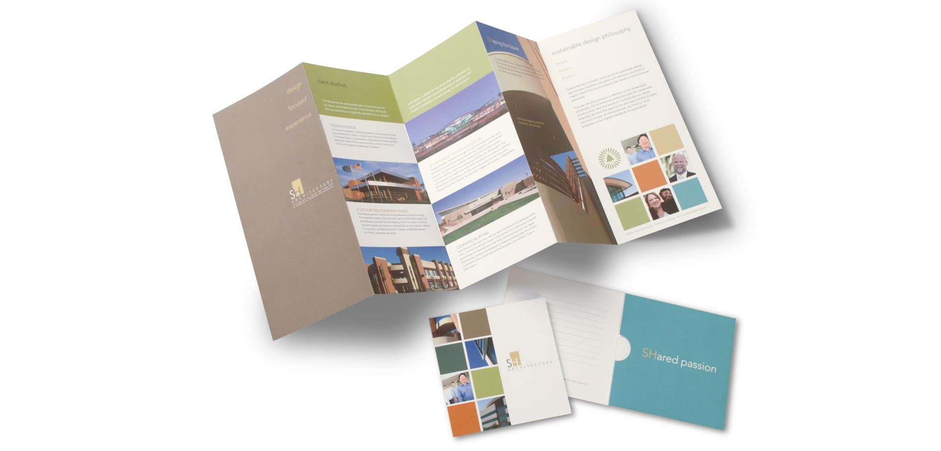 The spread out SH Architecture brochure