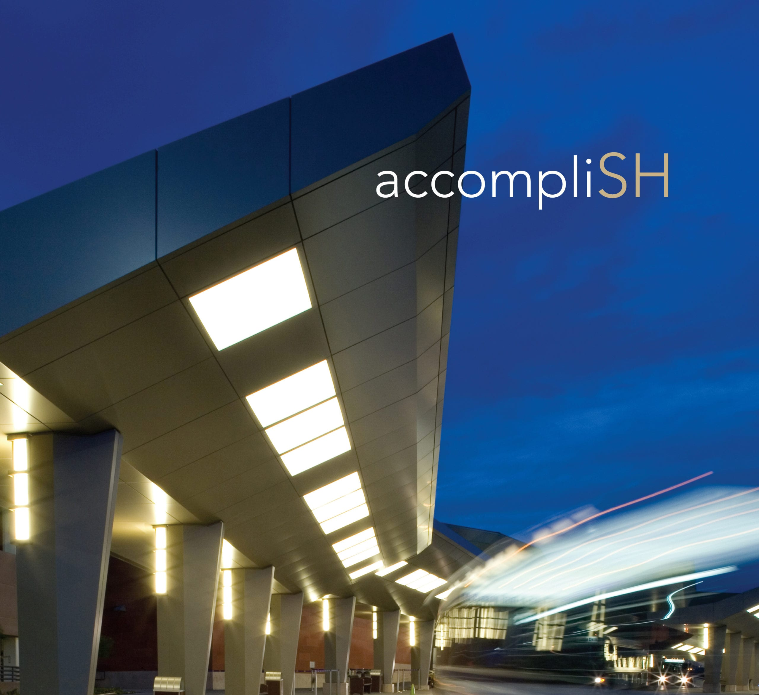 "The SH Architecture branding with the play on words: SH, with the words ""accompliSH"""