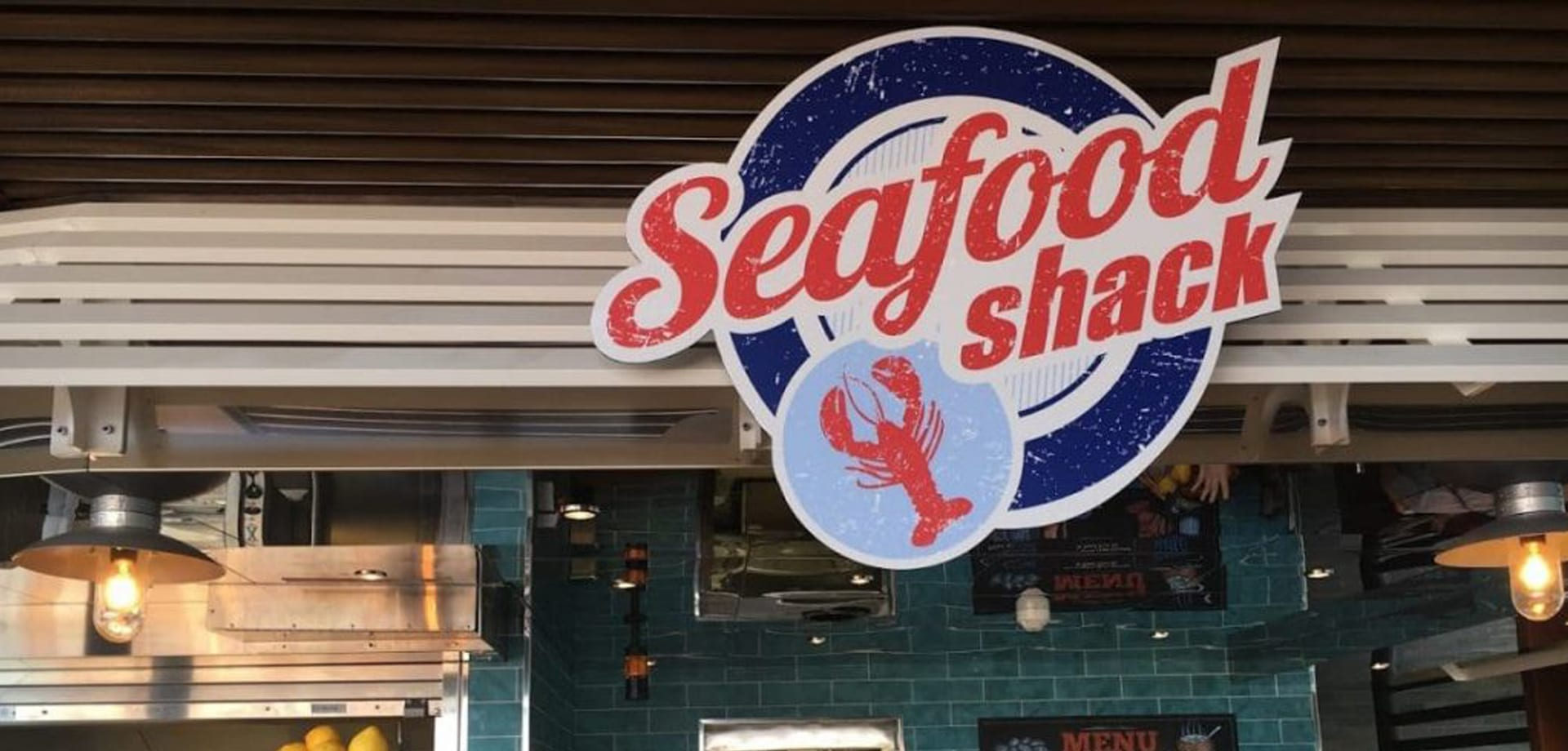 Seafood Shack logo, branding designed by Canyon Creative for Carnival Cruise Line