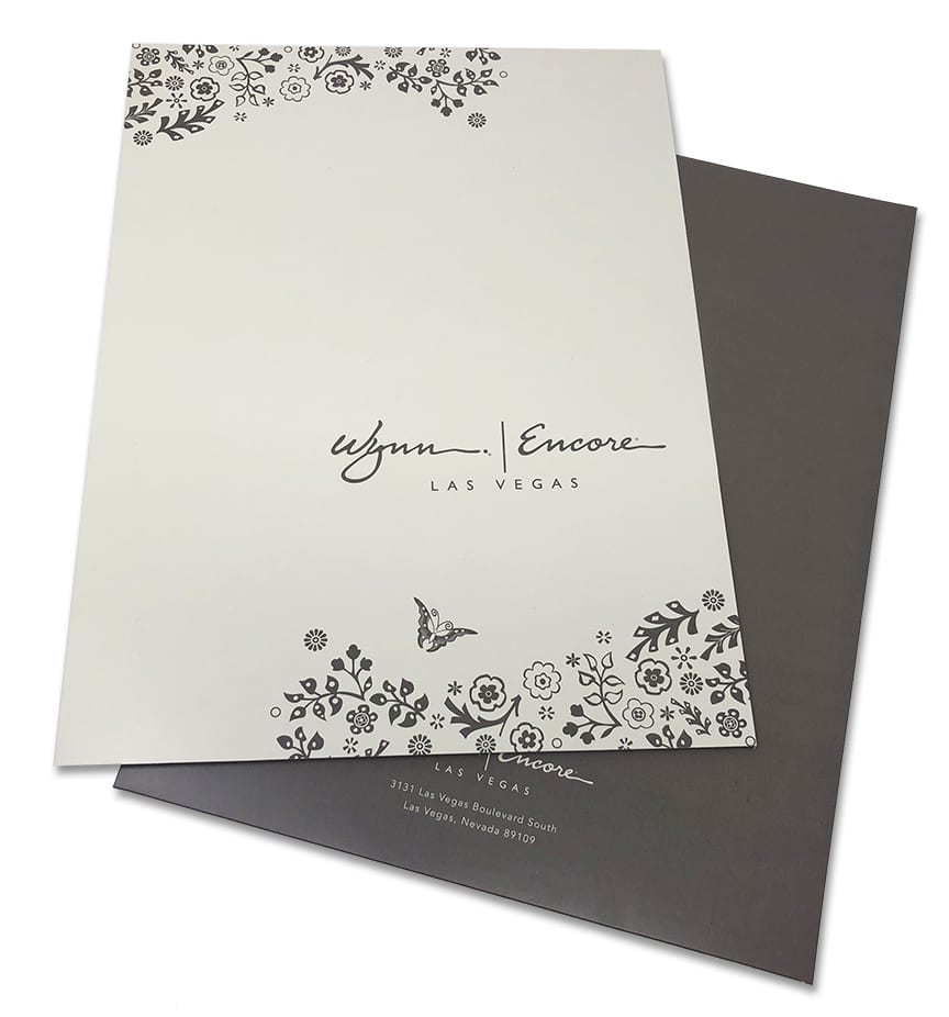 Wynn Encore Las Vegas branded folders