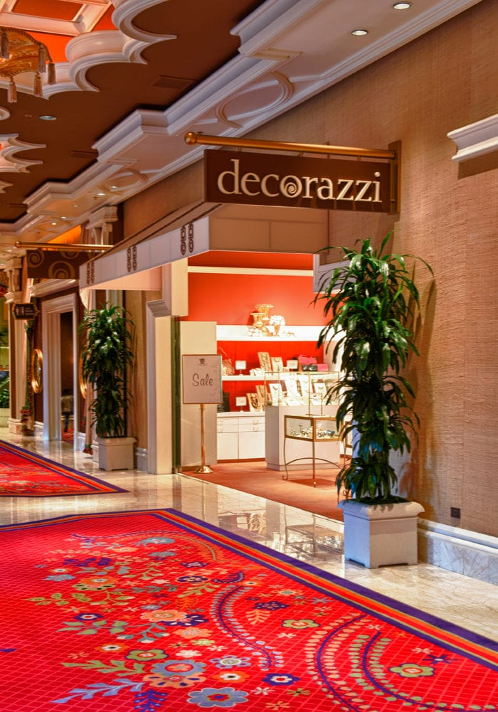 The front of the Decorazzi shop at the Wynn Las Vegas