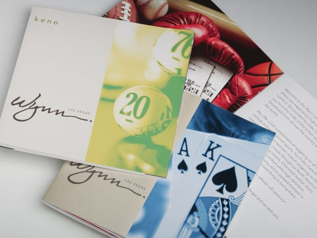 Gaming guides for the Wynn Las Vegas designed by Canyon Creative