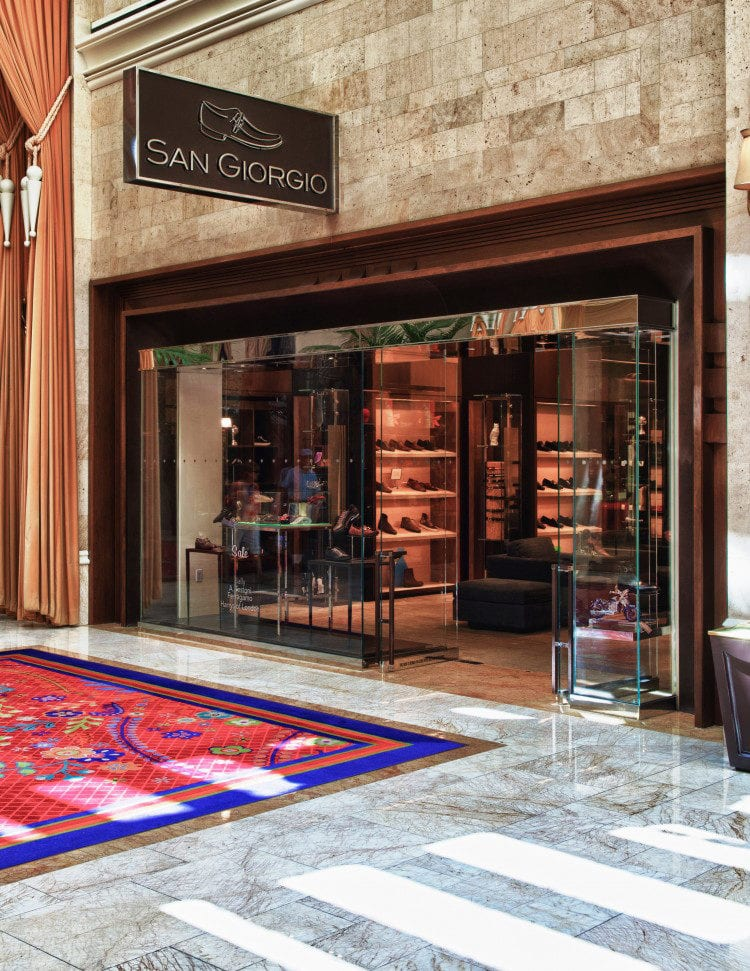 The front of the San Giorgio shop at the Wynn Las Vegas
