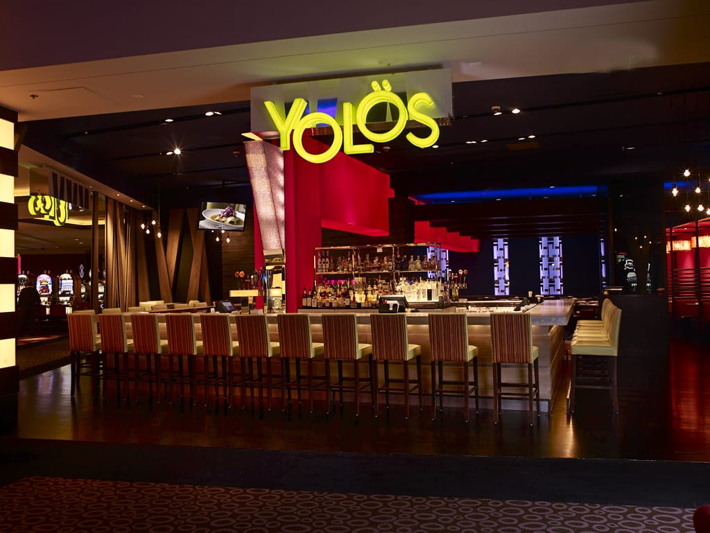 The bar area at Yolos Mexican Grill