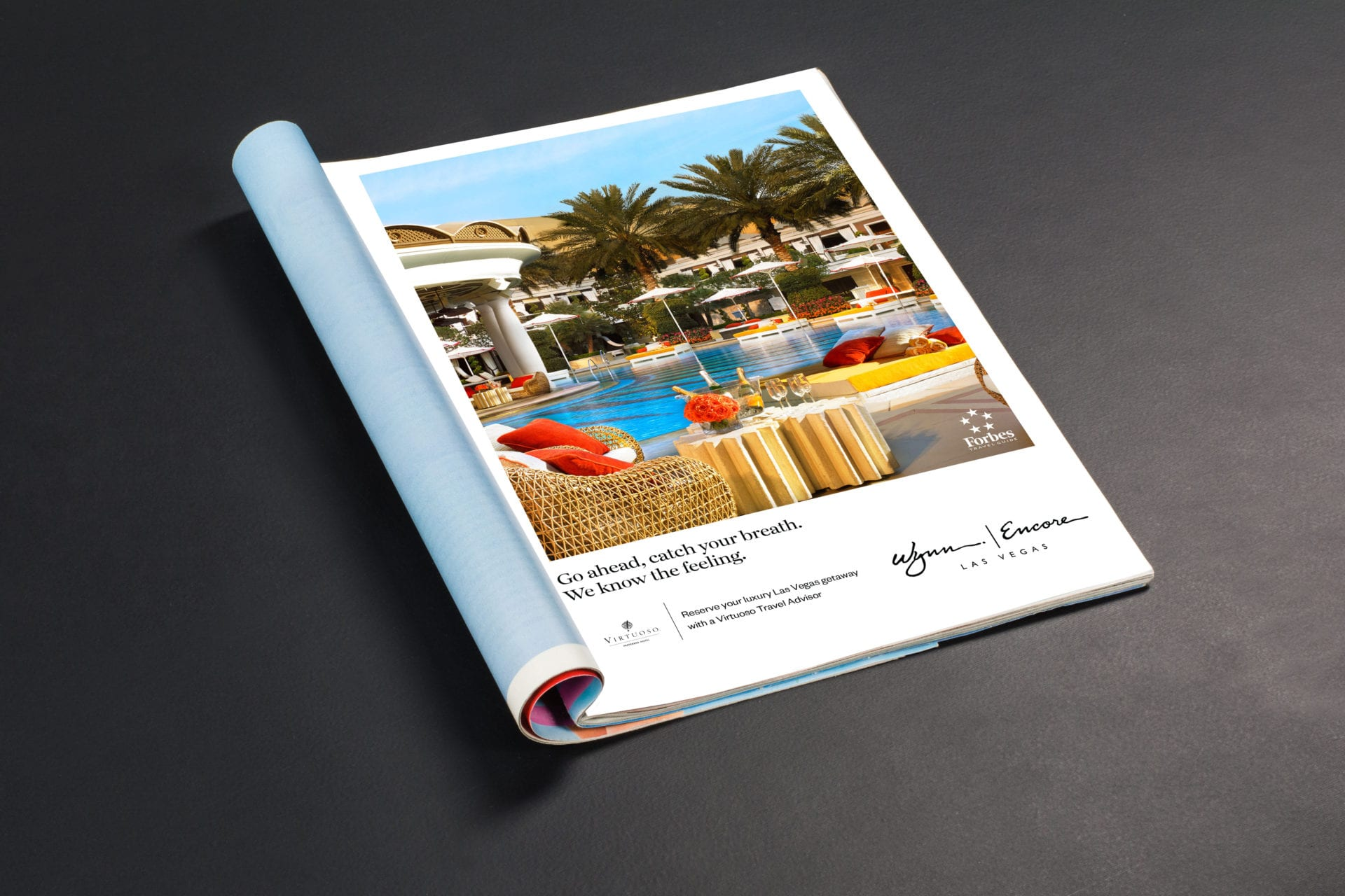 A magazine ad for the Wynn Las Vegas, designed by Canyon Creative