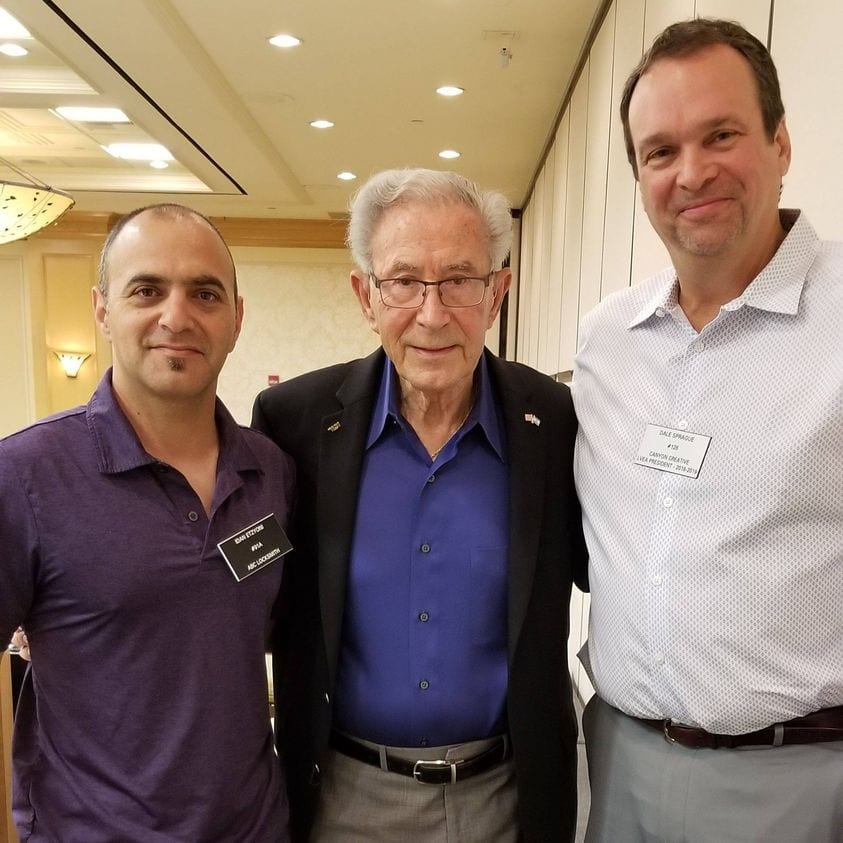 Holocaust survivor Ben Lesser pictured with Dale Sprague