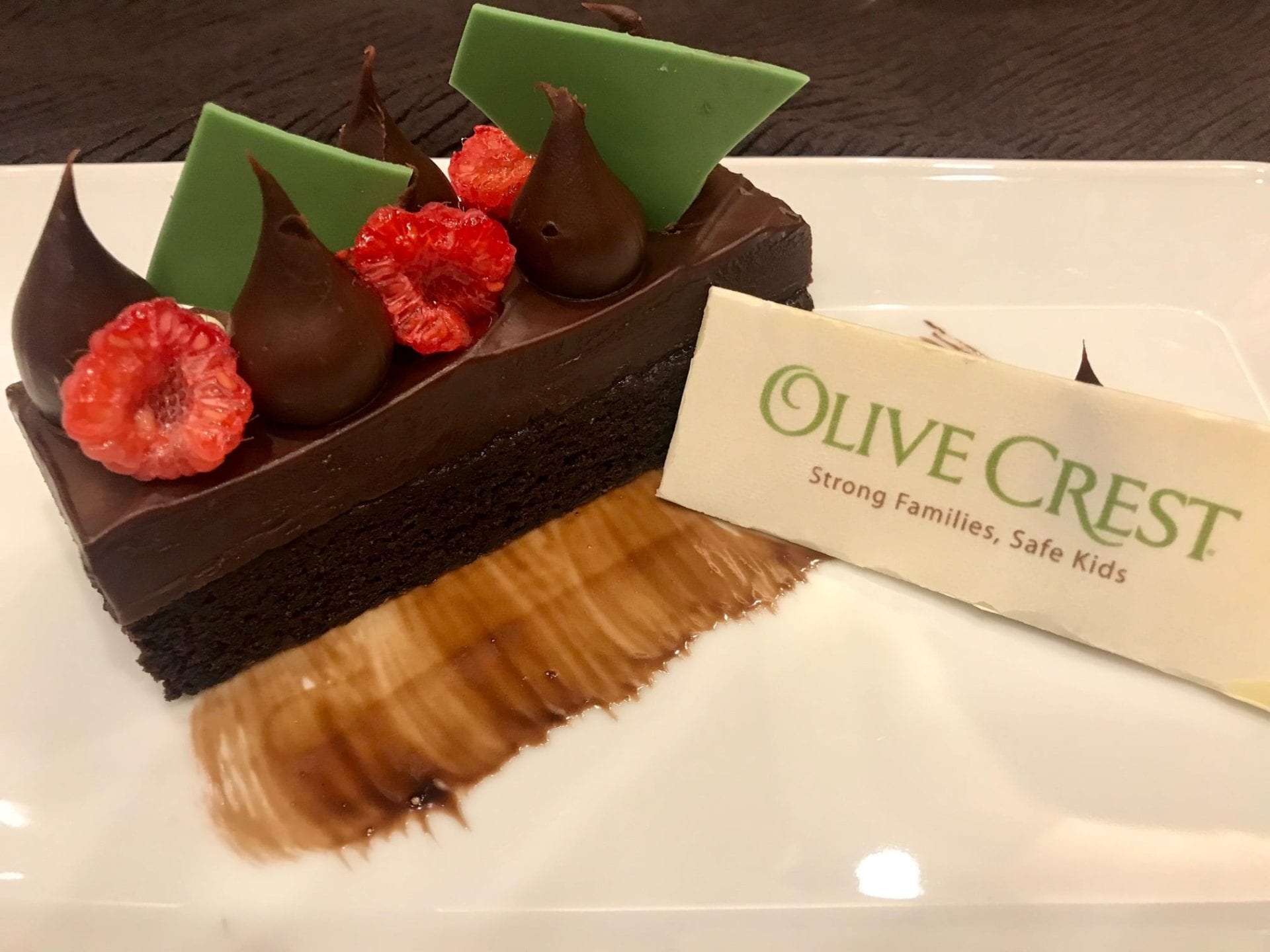 Delicious looking desert at Olive Crest Nevada event